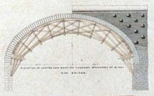 Plan of centering and abutment Sing-Sing-Kill Bridge (detail)